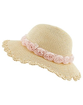 Monsoon Ianthe Chiffon Flower Flopy Hat
