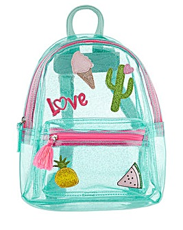 Accessorize Holiday Badge Jelly Backpack