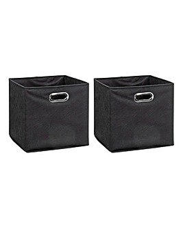 Set of 2 Cube Storage Boxes