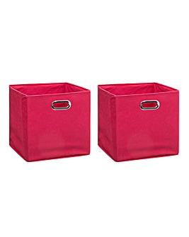 Set of 2 Cube Storage Boxes