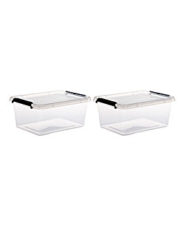Set of 2 12.5L Storage Box with Lid