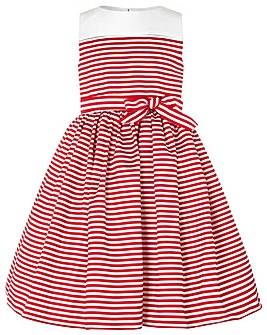 Monsoon Pinstripe Dove Dress