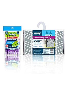 Minky Geo Suregrip Peg Bundle