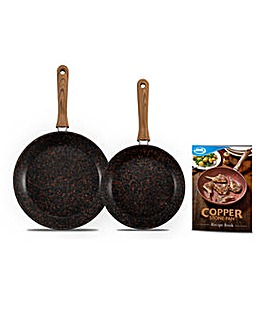 JML Copper Stone Frying Pan Set Black