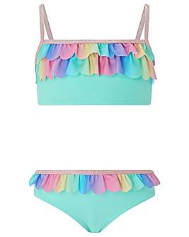 Accessorize Ombre Frill Bikini