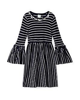 Yumi Girl Striped Knitted Dress