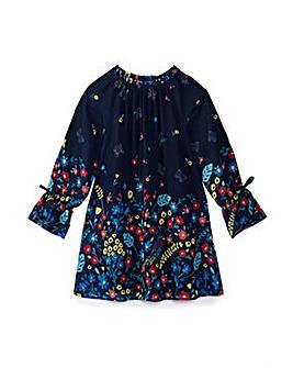 Yumi Girl Floral Print Tunic Dress