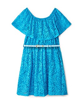 Yumi Girl Floral Lace Bandeau Dress