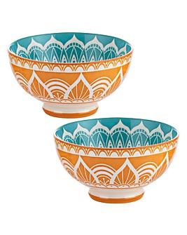 World Foods India Bowls 15cm Set of 2