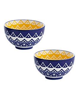 World Foods Tunis Bowls 15cm Set of 2