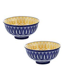 World Foods Tunis Bowls 11.5cm Set of 2