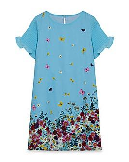 Yumi Girl Frill Sleeves Party Dress
