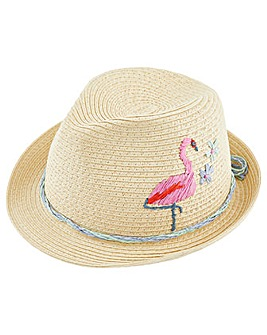 Monsoon Fiona Flamingo Trilby