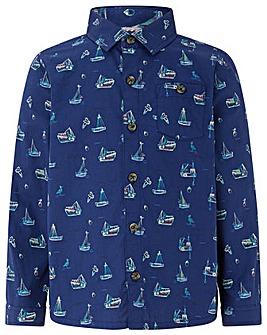 Monsoon Stanley Sail Boat Ls Shirt