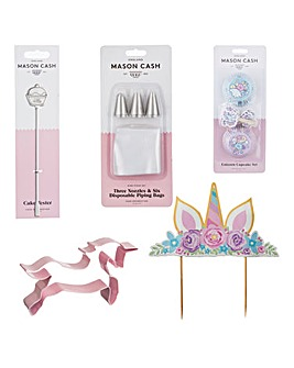 Mason Cash Unicorn Cake Decoration Set