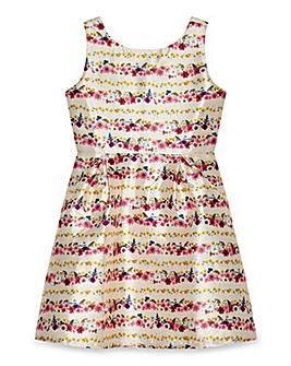 Yumi Girl Floral Stripe Prom Dress
