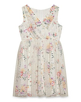 Yumi Girl Floral Party Mesh Dress