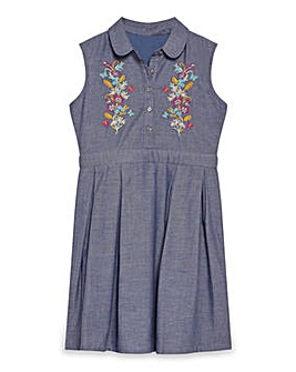 Yumi Girl Denim Shirt Dress