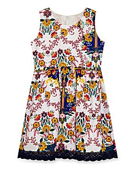 Yumi Girl Mexican Folk Scarf Dress