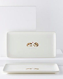 Hedge-Hugs Set of 2 Serving Platters