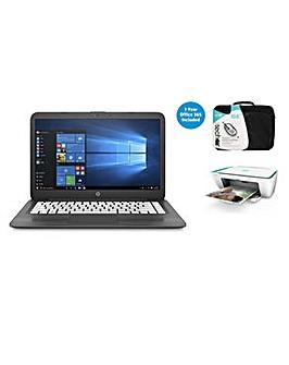 HP 14 Laptop Intel 4GB 32GB Win10 Bundle