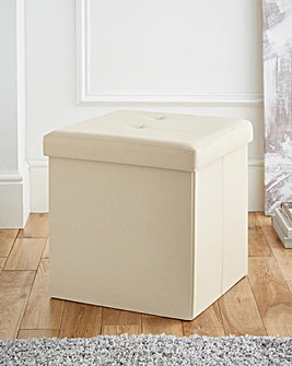 Fabric Foldable Storage Cube Cream
