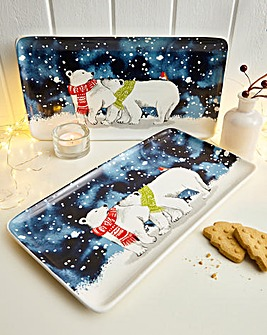 Parker The Polar Bear Set of 2 Platters