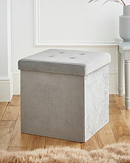 Fabric Foldable Storage Cube Grey
