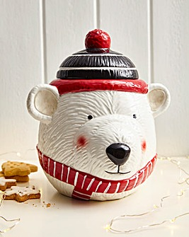 Parker the Polar Bear Cookie Jar