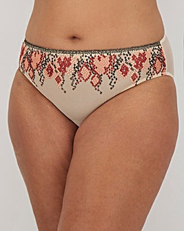 Figleaves Curve Python Embroidered Midi Brief