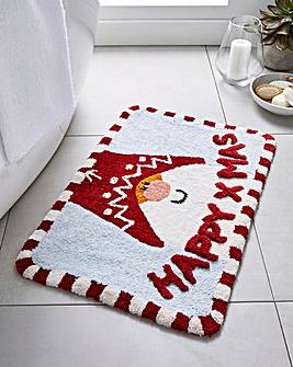 Santa Happy Xmas Bathmat