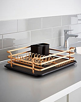 Rose Gold Dishrack with Cutlery Holder