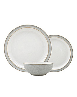 Denby Elements 12 Piece Dinnerset Grey