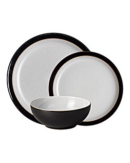 Denby Elements 12 Piece Dinnerset Black