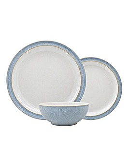 Denby Elements 12 Piece Dinnerset Blue