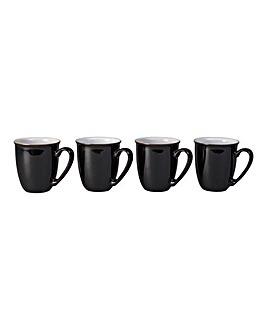 Denby Elements Set of 4 Mugs Black