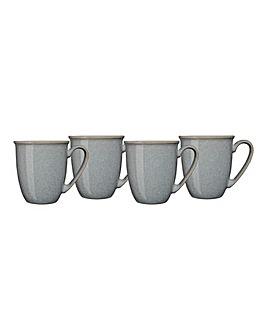 Denby Elements Set of 4 Mugs Grey