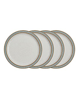 Denby Elements 4 Medium Plates Grey