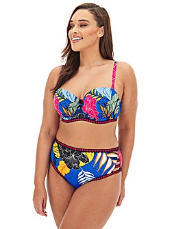 Figleaves Curve Miami Tropical Print Underwired Bikini Top