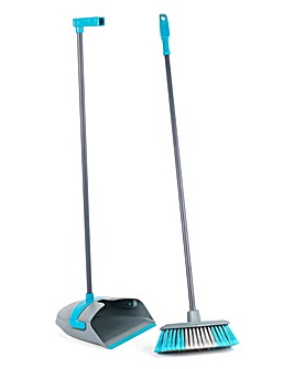 Beldray Long Handle Dustpan and Broom