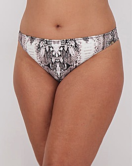 Figleaves Curve Snake Print Jewelled Bikini Bottoms