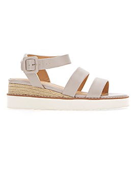 Twin Strap Wedge Sandals EEE Fit