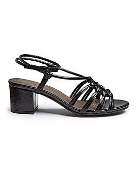 Ankle Tie Sandal Wide E Fit