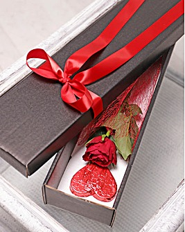 Valentine Rose and Lollipop Gift Box