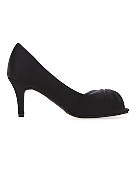 Twist Front Peep Toe Court Shoes Wide E Fit