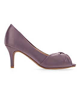 Peep Toe Court Shoes E Fit