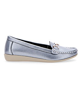 Leather Flexible Tassel Loafers Wide E Fit