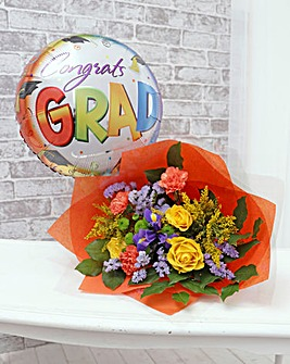 Graduation Balloon and Bouquet