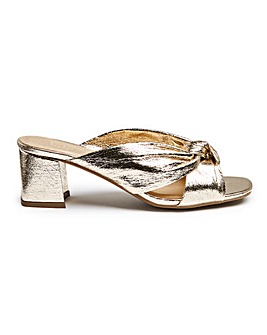 Knotted Mule Sandal E Fit