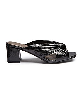 Knotted Mule Sandal EEE Fit